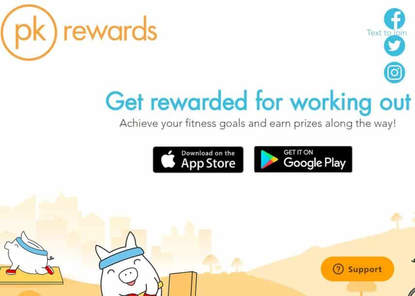 PK Rewards homepage