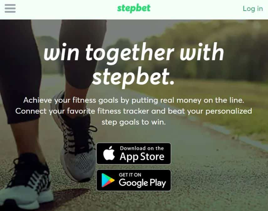 StepBet homepage