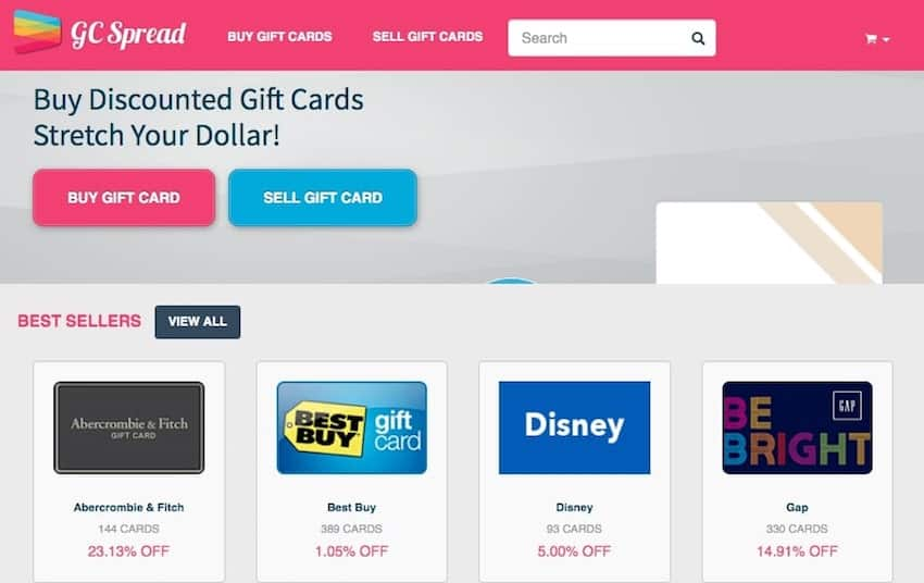 Gift Card Spread