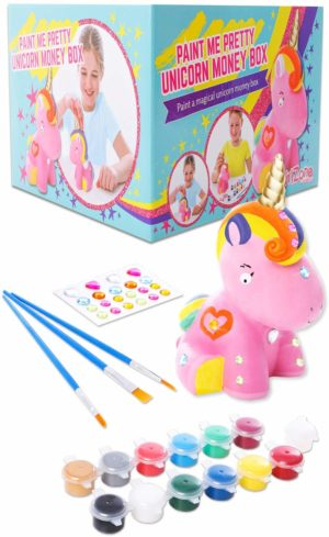 Paint Your Own Unicorn Money Box for Girls