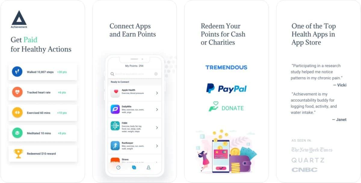 achievement app screenshots