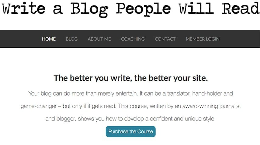 Write a Blog People Will Read Online Writing Course