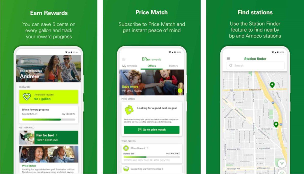bpme gas finder app screenshots