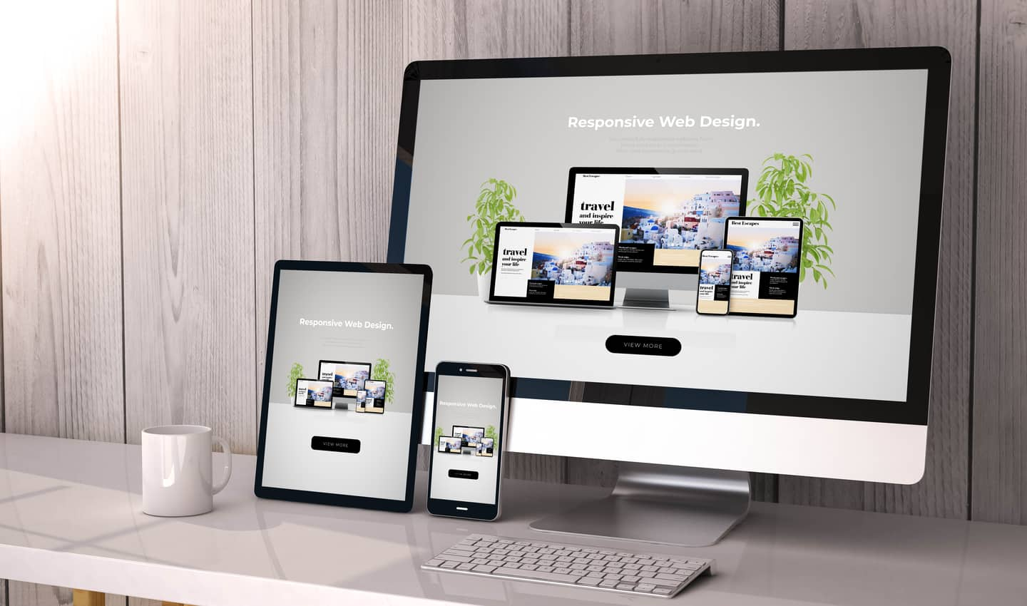 website design on different screens