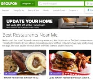 Groupon Restaurants