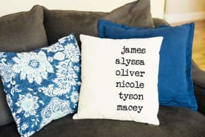 Personalized Throw Pillow Covers