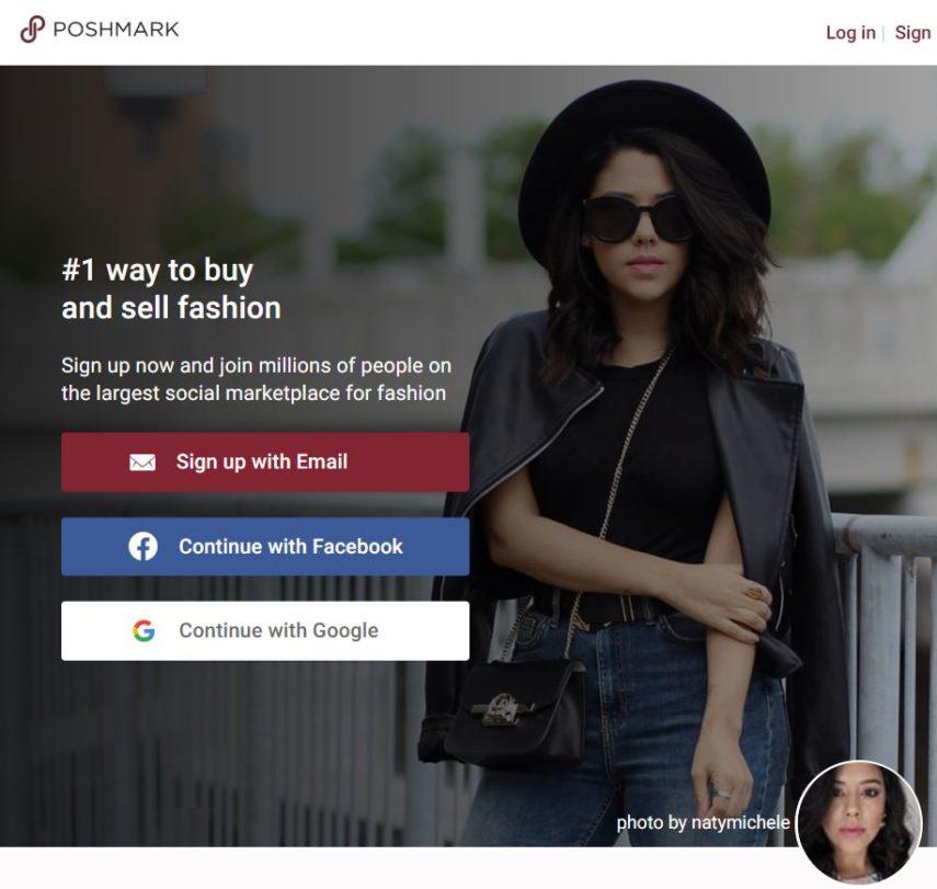 Poshmark homepage