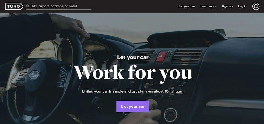 Turo Homepage