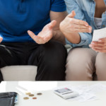 couple discussing spending vs. saving