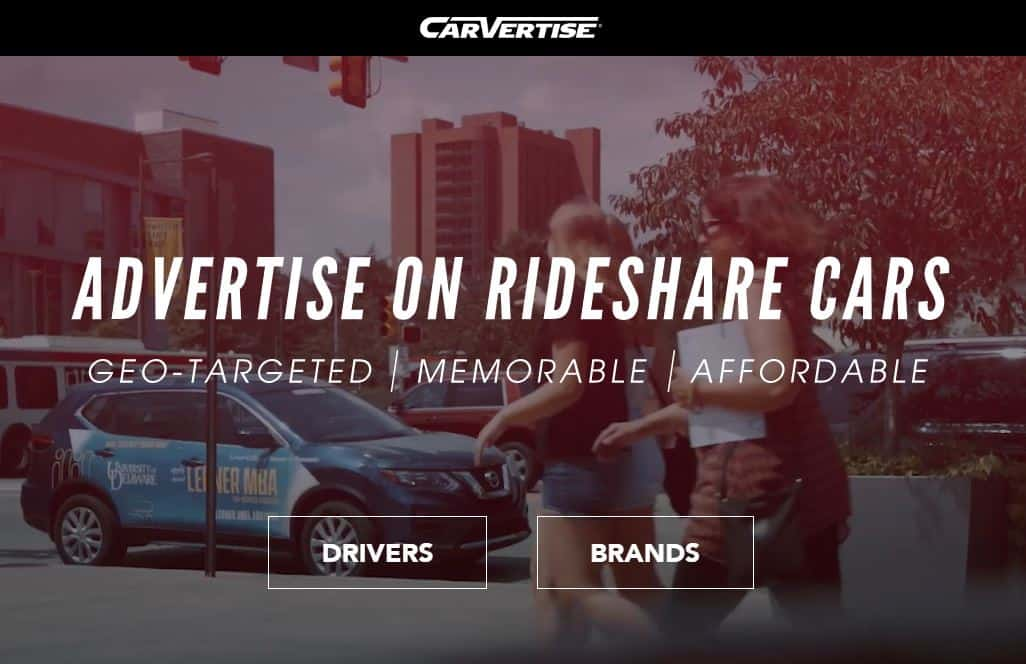 Carvertise website