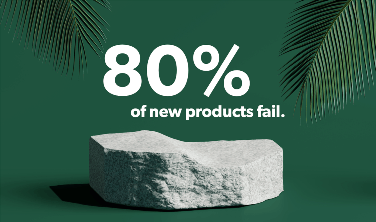 80% of all new products fail