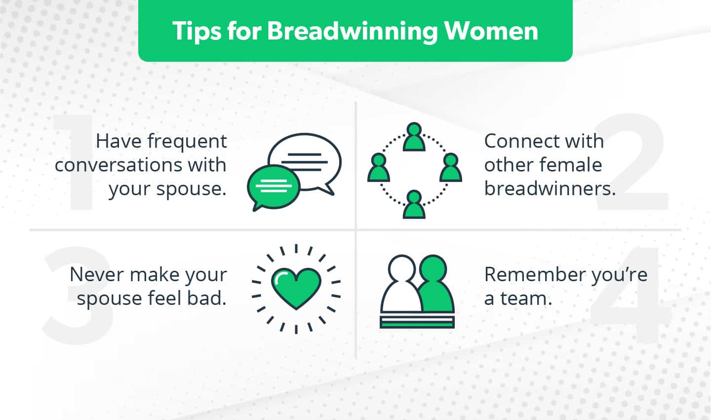 Tips for female breadwinners