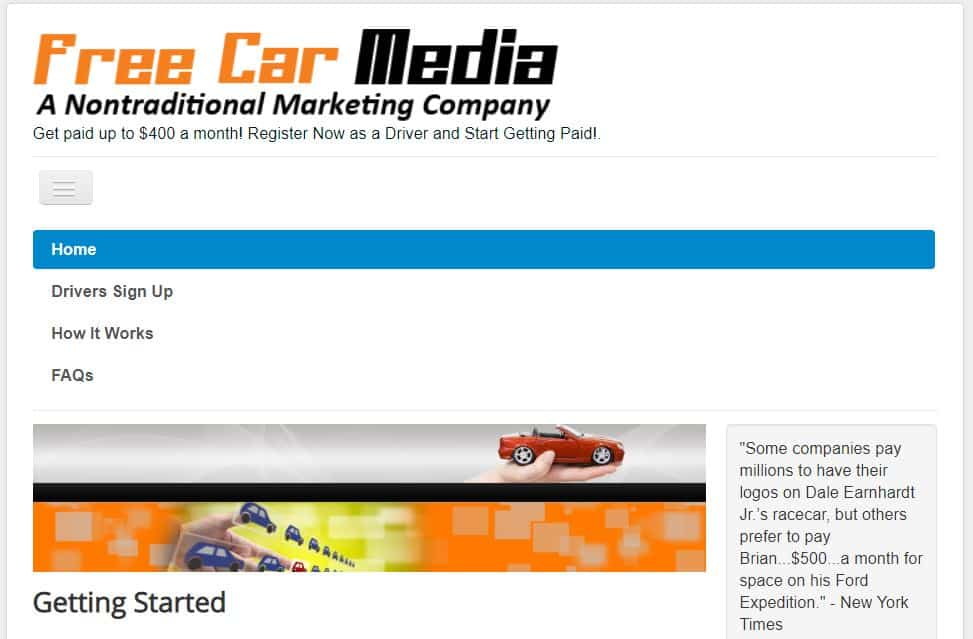 Free Car Media website