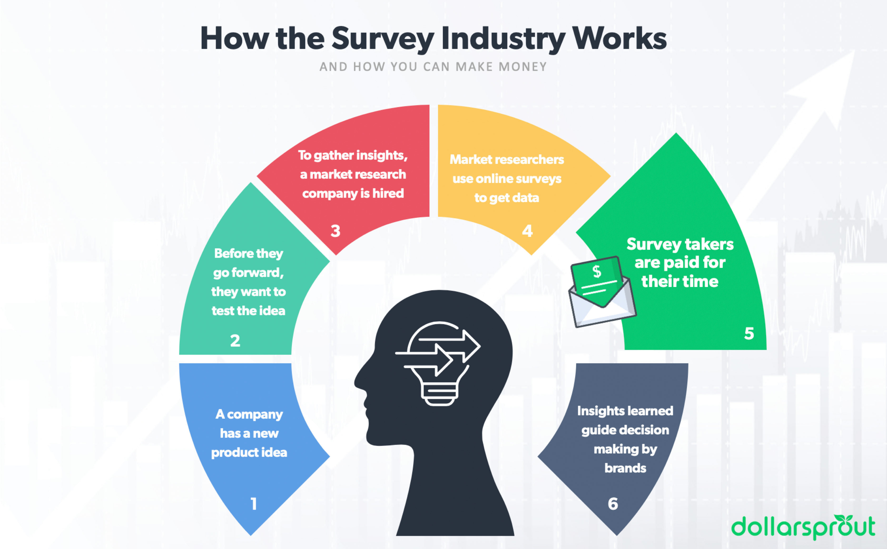 how survey sites work infographic