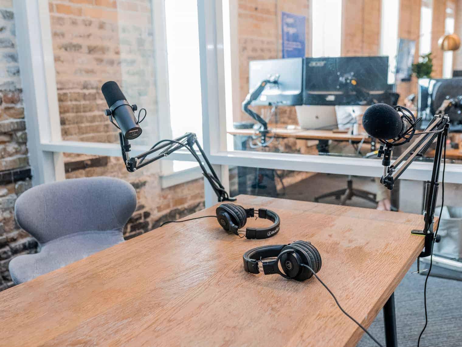 example podcast studio