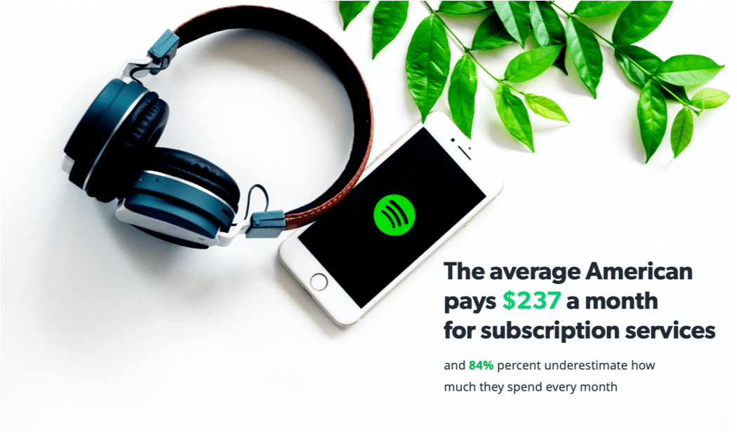 The average American spends $237 a month on subscription services