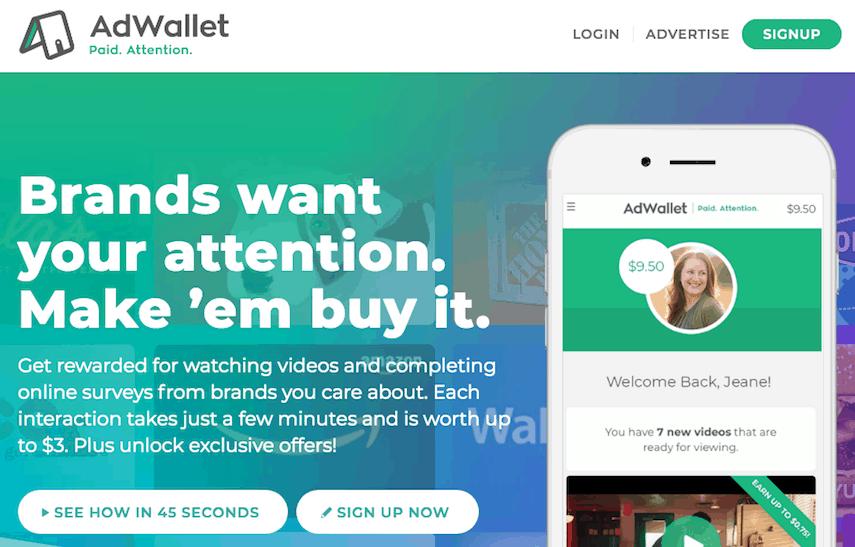 AdWallet Homepage