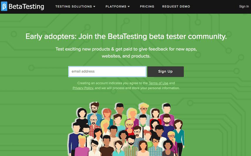 BetaTesting Homepage