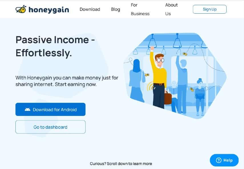 Honeygain homepage