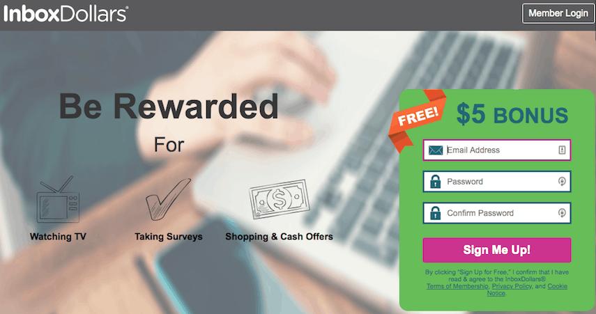 InboxDollars Homepage