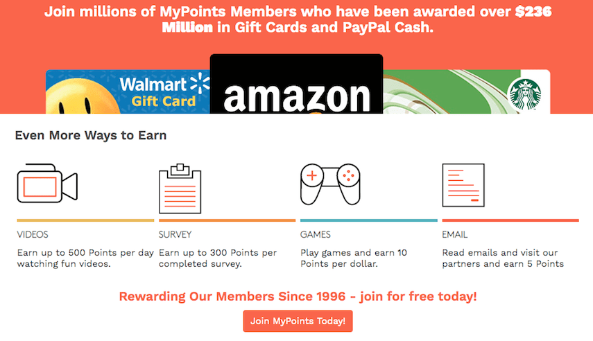 MyPoints Homepage