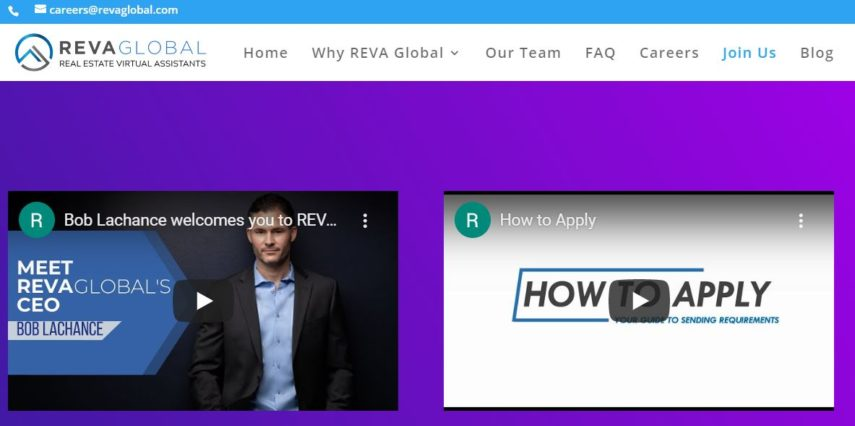 Reva Global homepage