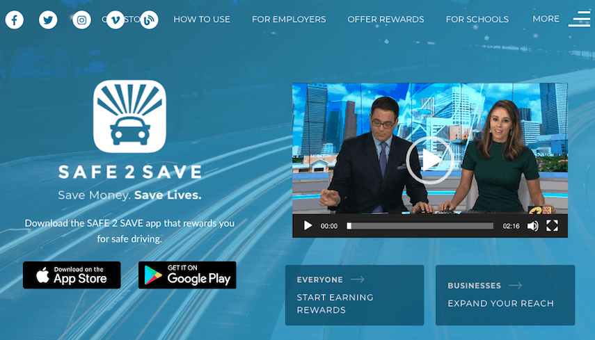 Safe2Save Homepage