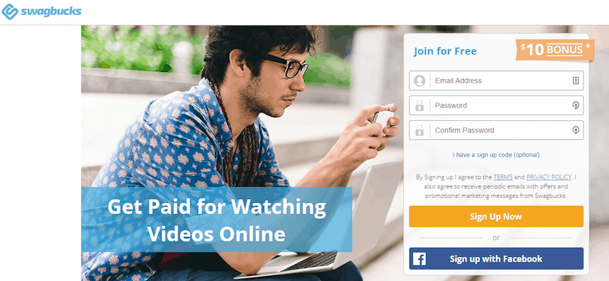 Swagbucks Get Paid to Watch Videos Page
