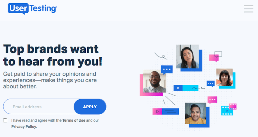 UserTesting Homepage