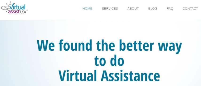 Virtual Assistant USA homepage
