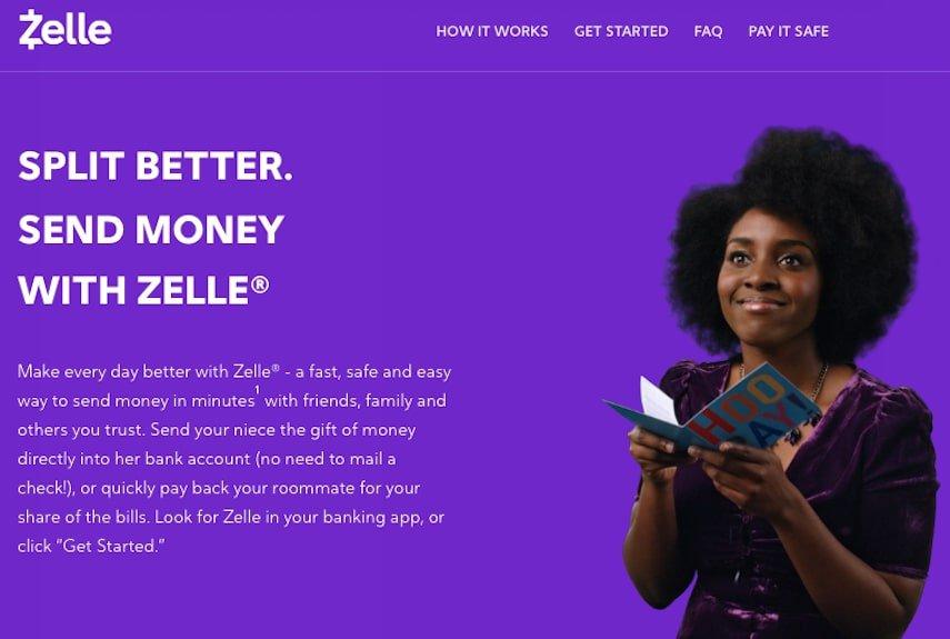 Zelle Homepage