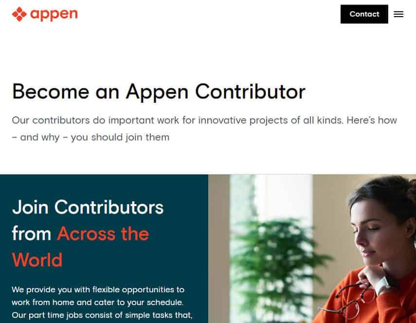 Appen homepage