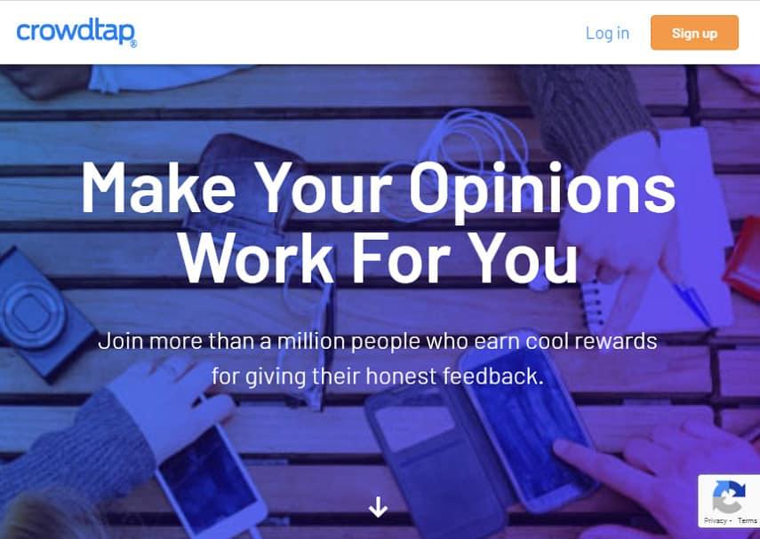 CrowdTap homepage