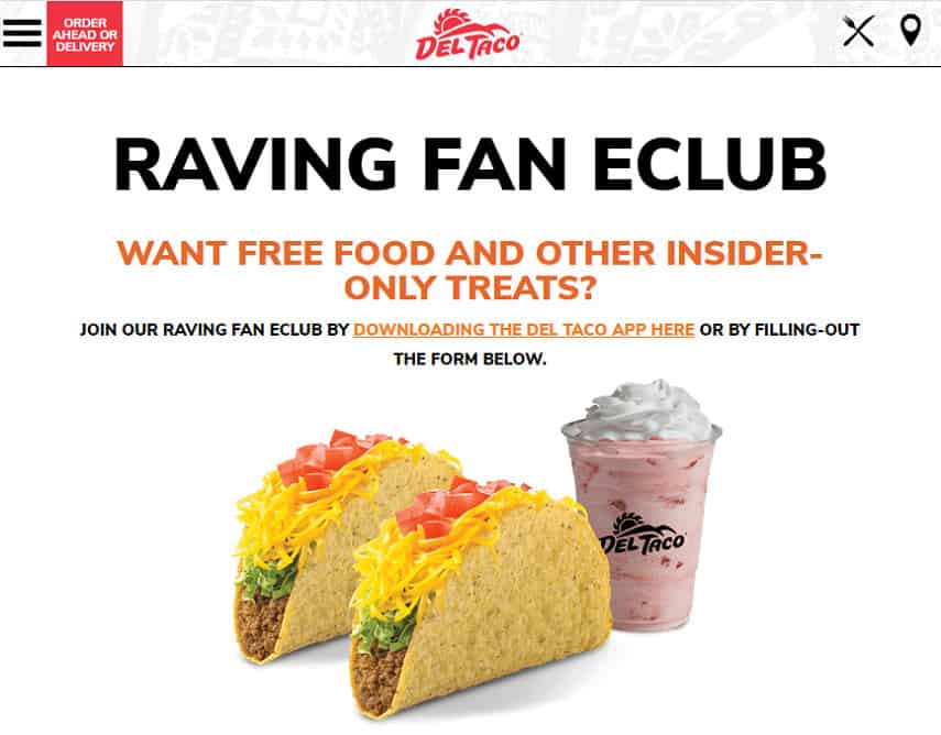 Del Taco rewards