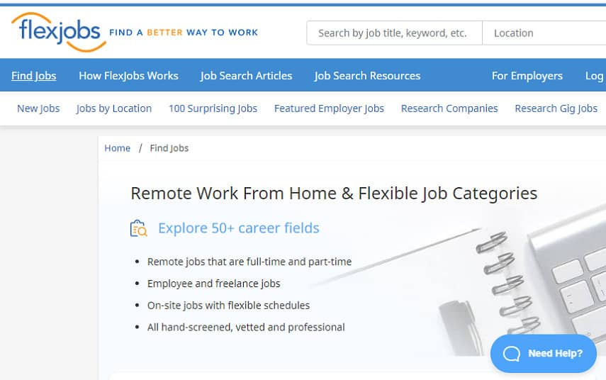 transcribe for FlexJobs