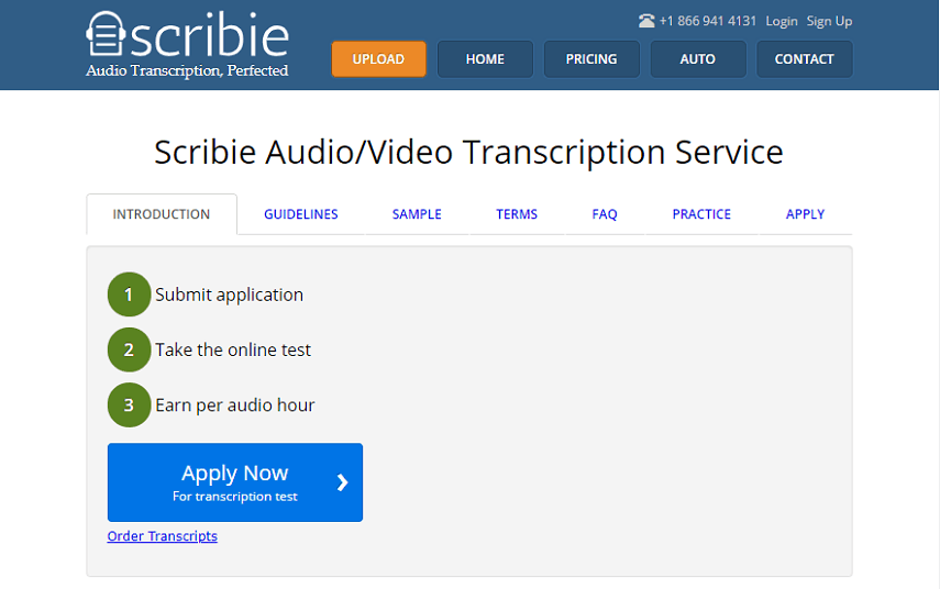 transcribe for Scribie