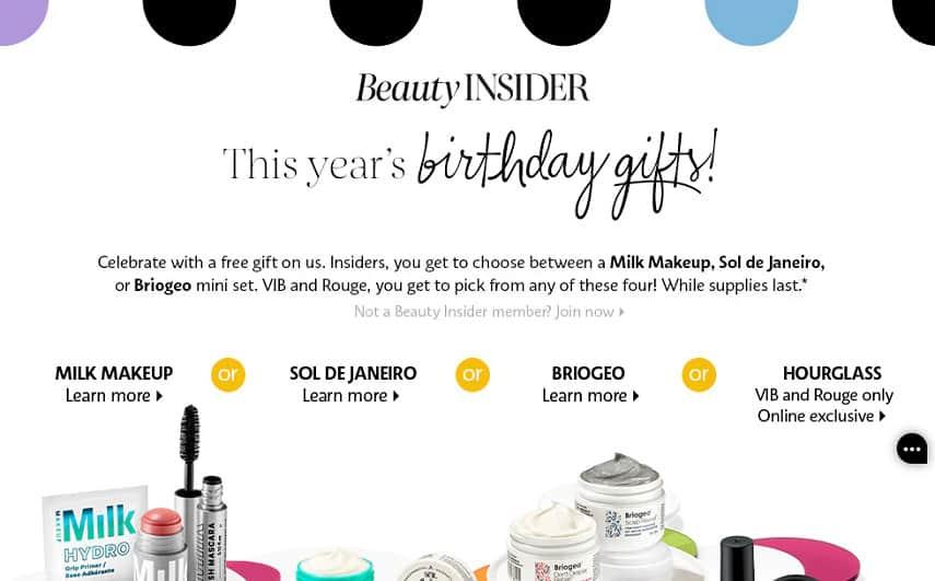 Sephora birthday reward