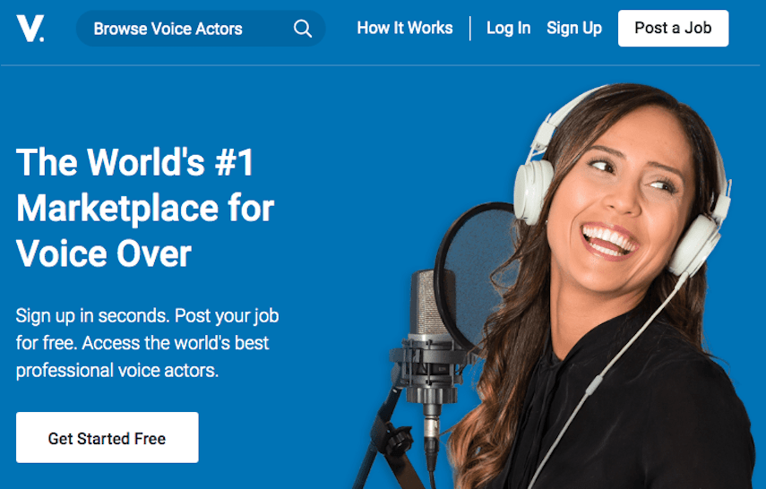 Voices.com Homepage