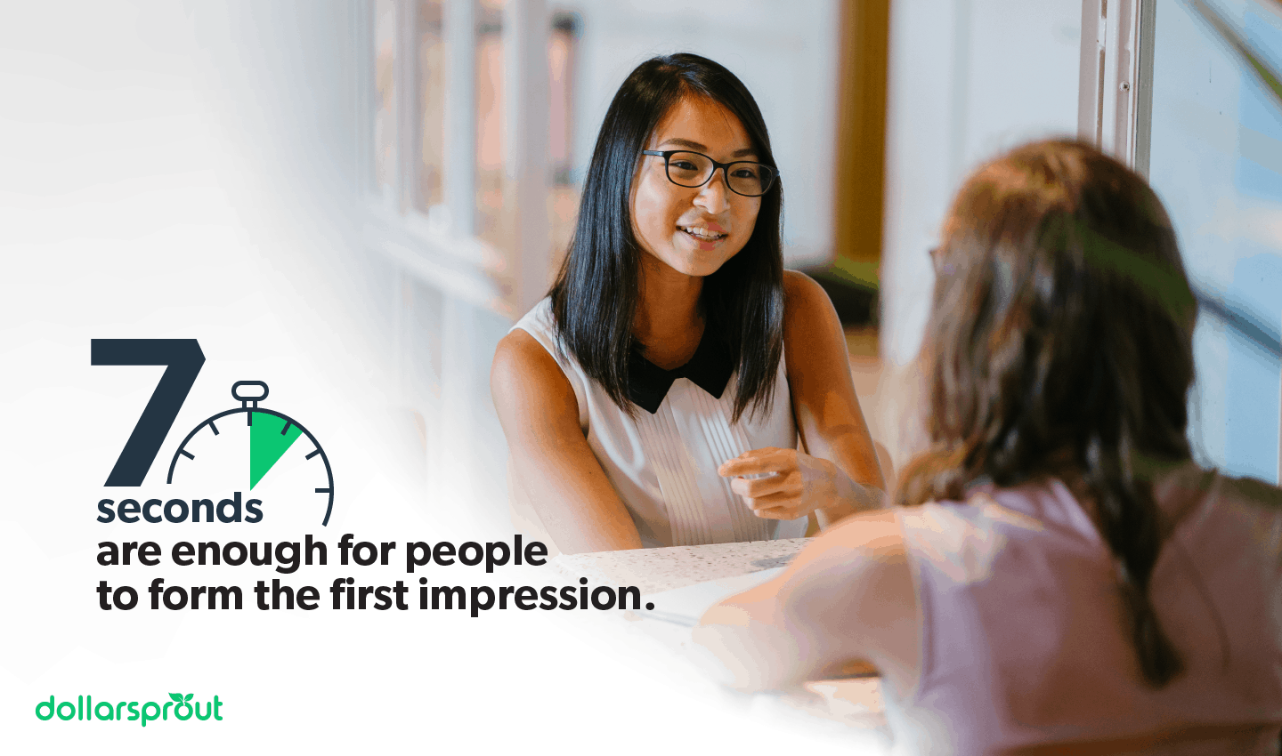 7 seconds to form a first impression