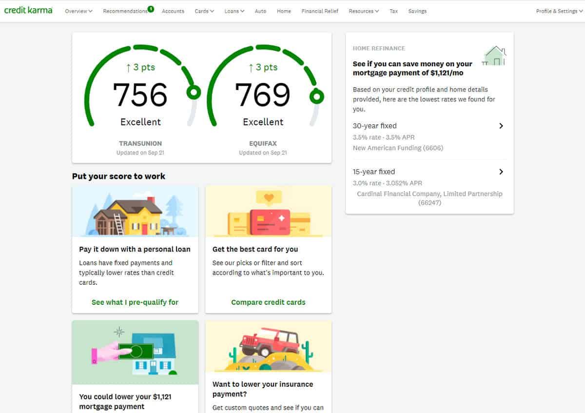 Credit Karma credit score