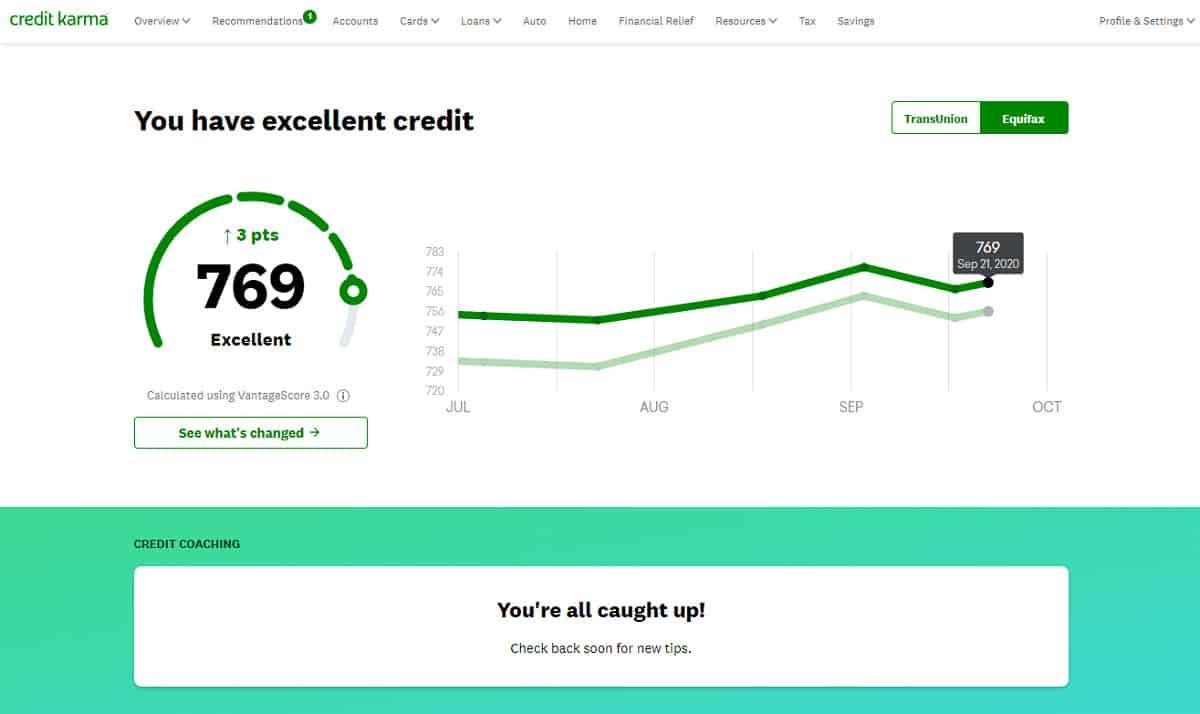 CreditKarma score details