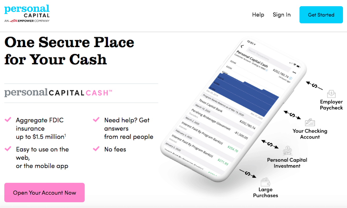 Personal Capital Cash Screenshot