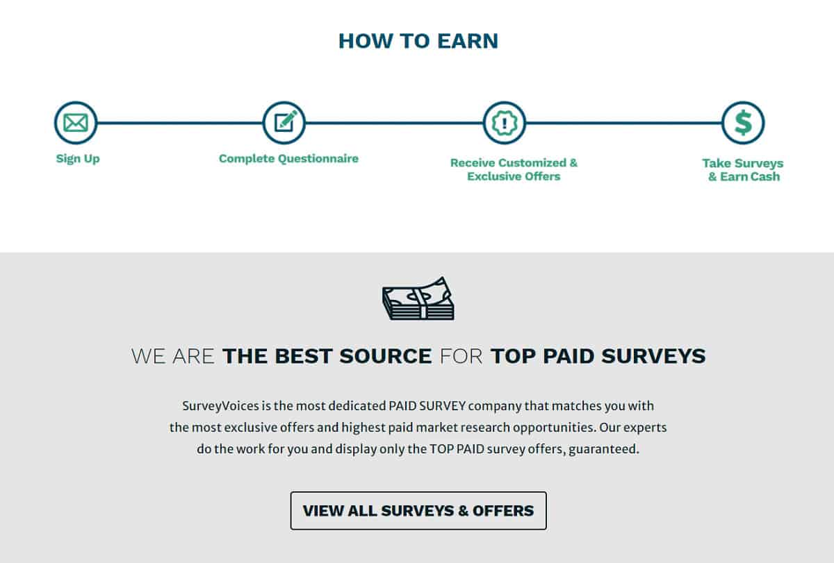 Survey Voices how to earn