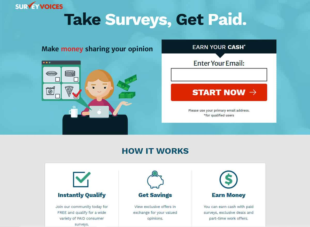 Survey Voices home page
