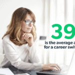 average age for career switch infographic