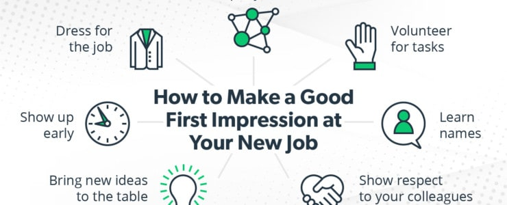 ways to make a good first impression at a new job