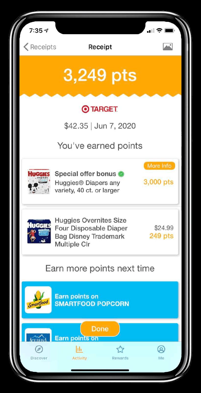 Fetch Rewards Mockup Points