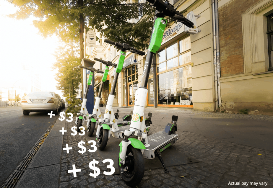 Earn money as a Lime Juicer by charging scooters for a few dollars each.
