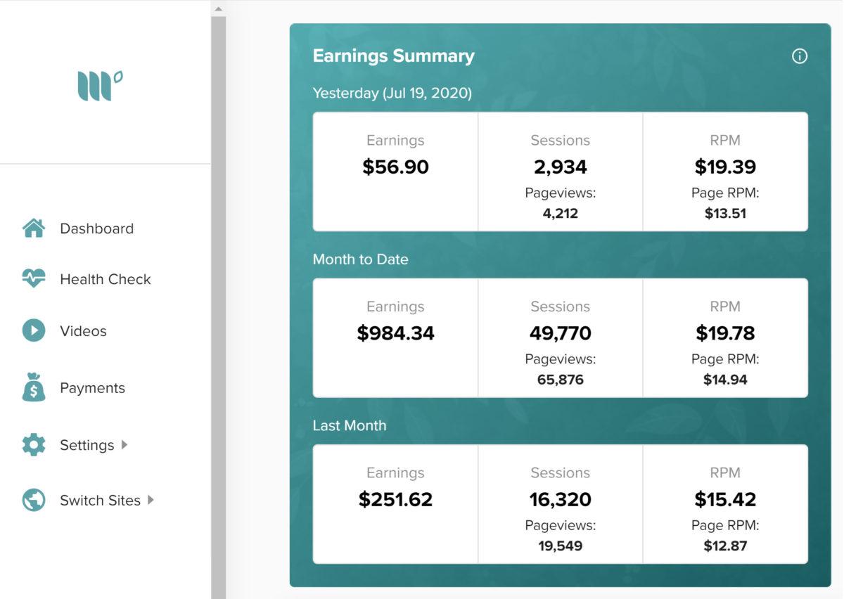 mediavine advertising earnings