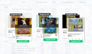 Screenshot of a few different Pokemon flips